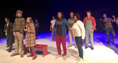 The cast of 'Almost Maine' takes in the applause after the show.