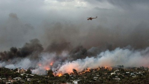 Greece suffers from worst wildfires in years.