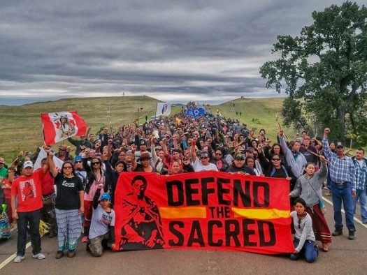 Native Americans stand up to DAPL.